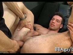 Lewd homosexual sex with naughty sexy dudes