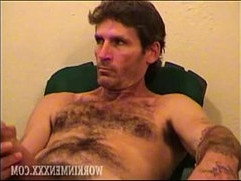 Hairy Man Larry Jacking Off