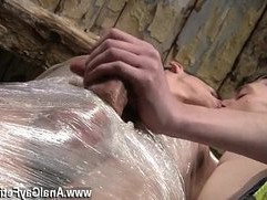 Gay fuck very small boy Horny guy Sean McKenzie is already roped up