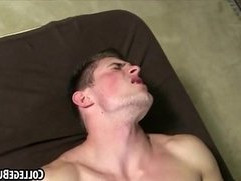 Horny college hunk getting tight asshole fucked