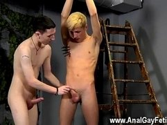 Gay fuck After getting some lessons in sausage worship and anguish