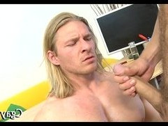 Indecent blowjob for lusty homo