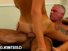Young blonde guy gets railed by old man in the ass